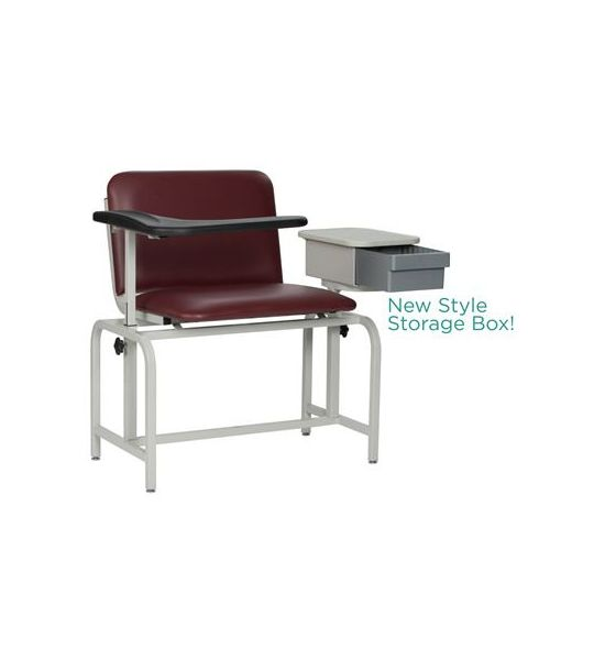 Blood Draw Chairs Extra Wide Padded With Storage Drawer